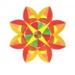 geometric flower g034